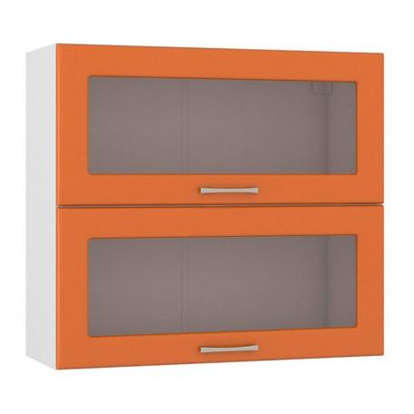 Шкаф горизонтальный 800 Сандра манго (2 витрины)