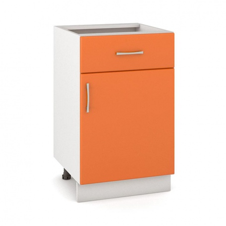 Стол 500 Сандра манго с ящиком и дверью