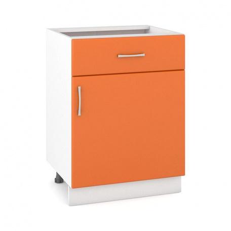 Стол 600 Сандра манго с ящиком и дверью