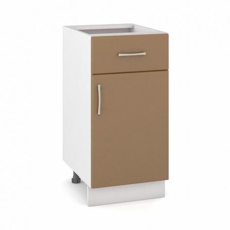 Стол 400 Сандра капучино с ящиком и дверью