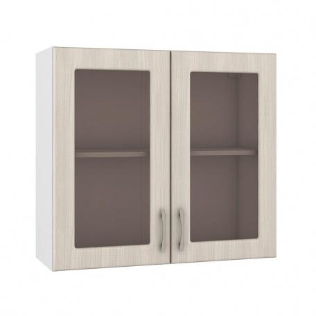 Шкаф 800 навесной 2 витрины Катрин