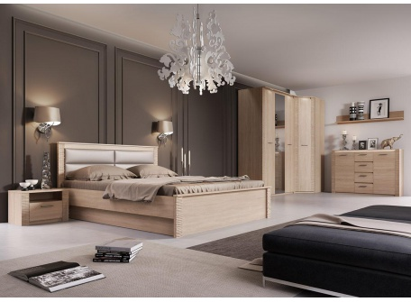 Спальня Элана дуб сонома вид-1