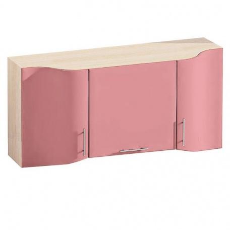 Шкаф над плитой 140 см Е-2817 Комфорт розовый