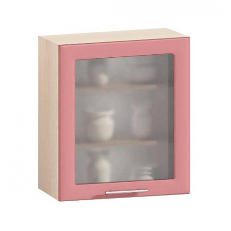 Витрина Е-2835 Комфорт розовый
