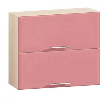 Шкаф двухдверный гориз. Е-2847 Комфорт розовый