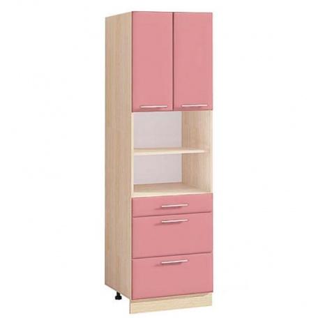 Шкаф (пенал) с ящиками Т-2891 Комфорт розовый