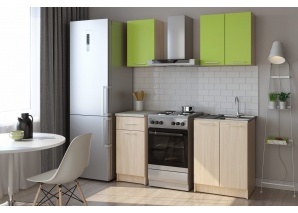 Кухня Ника (кремона/зелёный бархат)