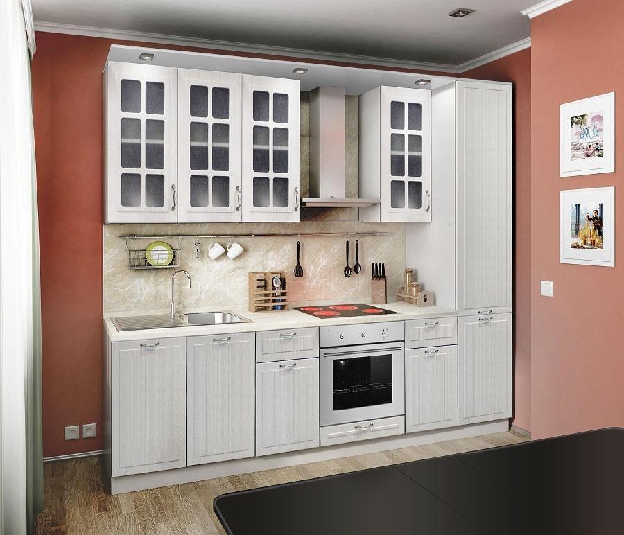 Кухня регина белая столплит