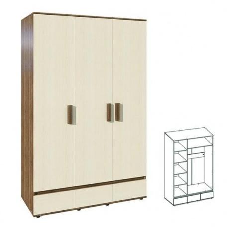 Шкаф трёхдверный Арт-Сити