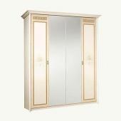 Шкаф 4-х дверный Карина-3 бежевая