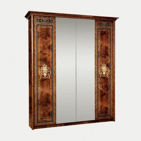 Шкаф 4-х дверный Карина-3 орех