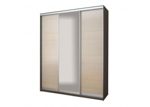 Шкаф-купе 3-х дверный Модена с зеркалом